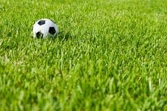 Soccer Ball Football on Grass Stock Photo