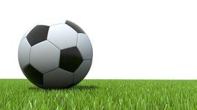 Soccer ball football on grass. 3D Soccer ball football on grass Stock Photography