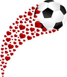 Soccer Ball or Football Heart Swoosh Stock Photography