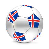 Soccer Ball/Football Iceland Stock Images