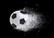 Soccer ball speed effect isolated on black Royalty Free Stock Images