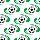 Soccer ball or football seamless pattern Royalty Free Stock Photo