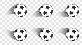 Soccer ball. Football shot isolated on a transparent background. Goal. Vector design. Stock Photos