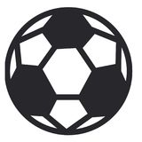 Soccer ball or football. Graphic, white background Royalty Free Stock Photography