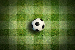 Soccer ball football sport. For play game and for text and message design Royalty Free Stock Photos