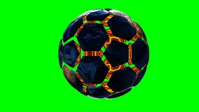 Soccer ball in the form of a planet in space,, maps and textures provided by NASA,. Soccer ball in the form of a planet in space,, maps and textures provided by stock video