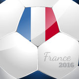 Soccer ball with france flag. Soccer ball poster design with france flag Royalty Free Stock Photos