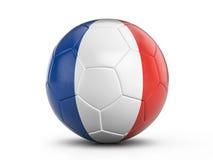 Soccer ball France flag Stock Images