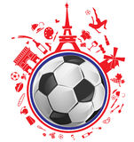 Soccer ball with france symbol. Set Stock Photos