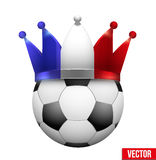 Soccer ball with French flag crown. Stock Images