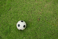 Soccer Ball From Top View Stock Photo