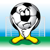 Soccer ball in front of penalties. Vector. Stock Photography