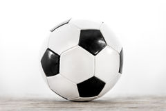Soccer ball in front of white Royalty Free Stock Photography
