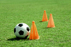 Soccer ball and funnel. Stock Image