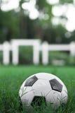 Soccer Ball  Futbol on Grass Royalty Free Stock Photos