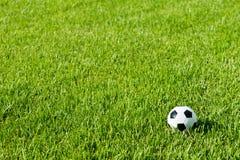 Soccer Ball Futbol on Grass Stock Image