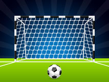 Soccer ball and gate with net Stock Images