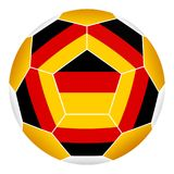 Soccer ball with German flag Royalty Free Stock Photos