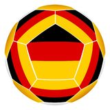 Soccer ball with German flag Stock Photo