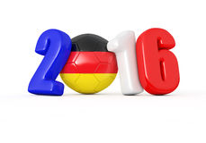 2016 with soccer ball.Germany flag Stock Photos