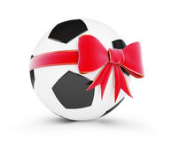 Soccer ball gift Stock Photo