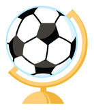 Soccer ball globe Stock Photo