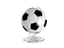 Soccer Ball On Globe Stand Stock Images