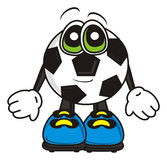 Soccer ball is in gloves Royalty Free Stock Images