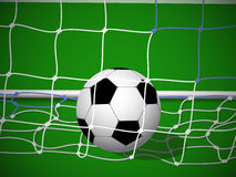 Soccer ball in goal. For the grid Royalty Free Stock Photos