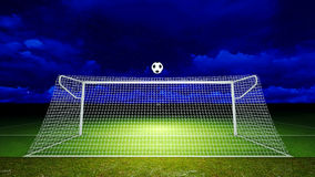 Soccer ball and goal Royalty Free Stock Photos