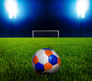 Soccer Ball and The Goal Royalty Free Stock Photography