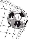 Soccer ball goal Stock Image