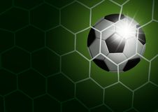 Soccer ball in goal with light vector illustration Royalty Free Stock Images