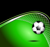 Soccer ball with goal and net Stock Photos
