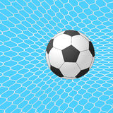Soccer ball in goal. Vector. Royalty Free Stock Photos