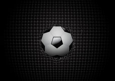 Soccer ball in goal vector design Royalty Free Stock Photo