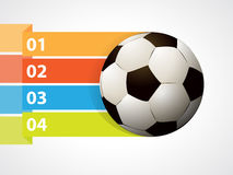 Soccer ball with graphic informations. Vector illustration Stock Images