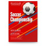 Soccer ball on graphics background. Poster of tournament football league. Design of banner for sport events. Template of. Advertising for championship of soccer vector illustration