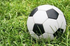 Soccer ball on Grass. Soccer ball on green grass Stock Photos
