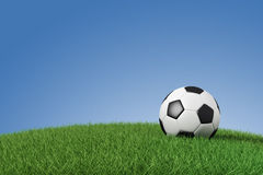 Soccer ball on grass. With space for your text Royalty Free Stock Images