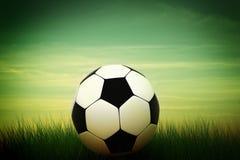 Soccer ball in grass Stock Photo