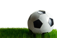 Soccer ball on the grass Royalty Free Stock Photography