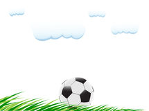 Soccer ball on the grass. Illustration of soccer ball on the grass Stock Illustration