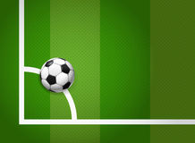 Soccer ball on the grass. Soccer ball lying on the game field Stock Illustration