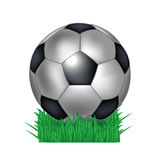 Soccer ball in grass Royalty Free Stock Photos