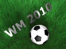 Soccer - Ball - Grass - 3D Stock Photography