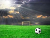 Soccer ball on grass Stock Image