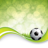 Soccer ball on grass Stock Photos