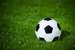 Soccer ball on the grass Stock Photo