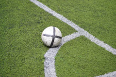 Soccer ball in the grass Royalty Free Stock Photography